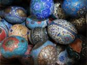 تخم شترمرغ میناکاری