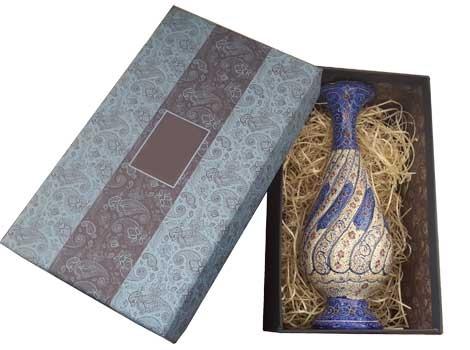 گلدان میناکاری با بسته بندی جعبه کادویی