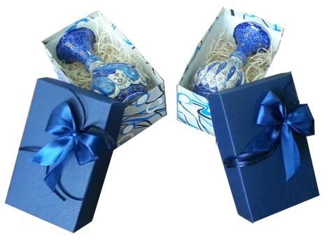 گلدان میناکاری با جعبه