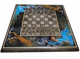 شطرنج و تخته نرد خاتم طرح چهره
