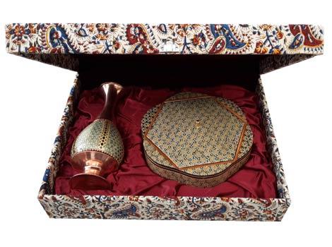 ست گلدان و شکلات خوری خاتم اصفهان